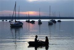 Romantischer Bootsausflug