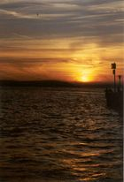 Romantischer Sonnenuntergang in Meersburg