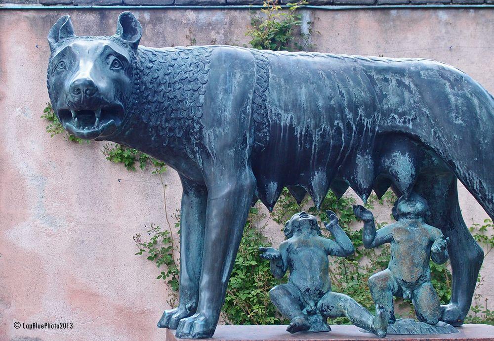 Romulus und Remus Skulptur