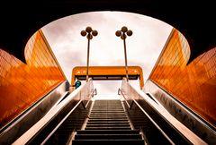 room, light, orange