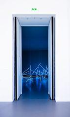 room, white, blue