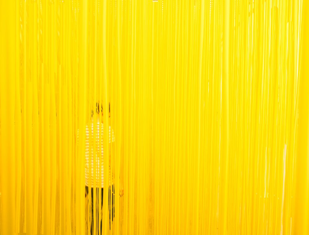 room, yellow, person