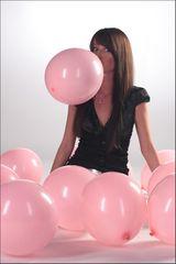 Rosarote Ballons...