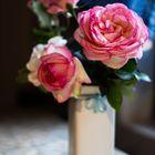 Rosas en la cocina
