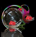 Rose in a glass bowl