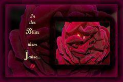 * Rose * ...in der Blüte ihrer Jahre *