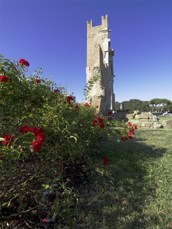 Rose rosse per l'arco di Augusto (in prospettiva insolita)