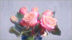 Rosen  in  fraktalie Look