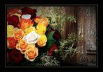 Rosenduft dringt durch die Tür