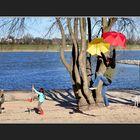 Rosenmontag am Rhein -I-