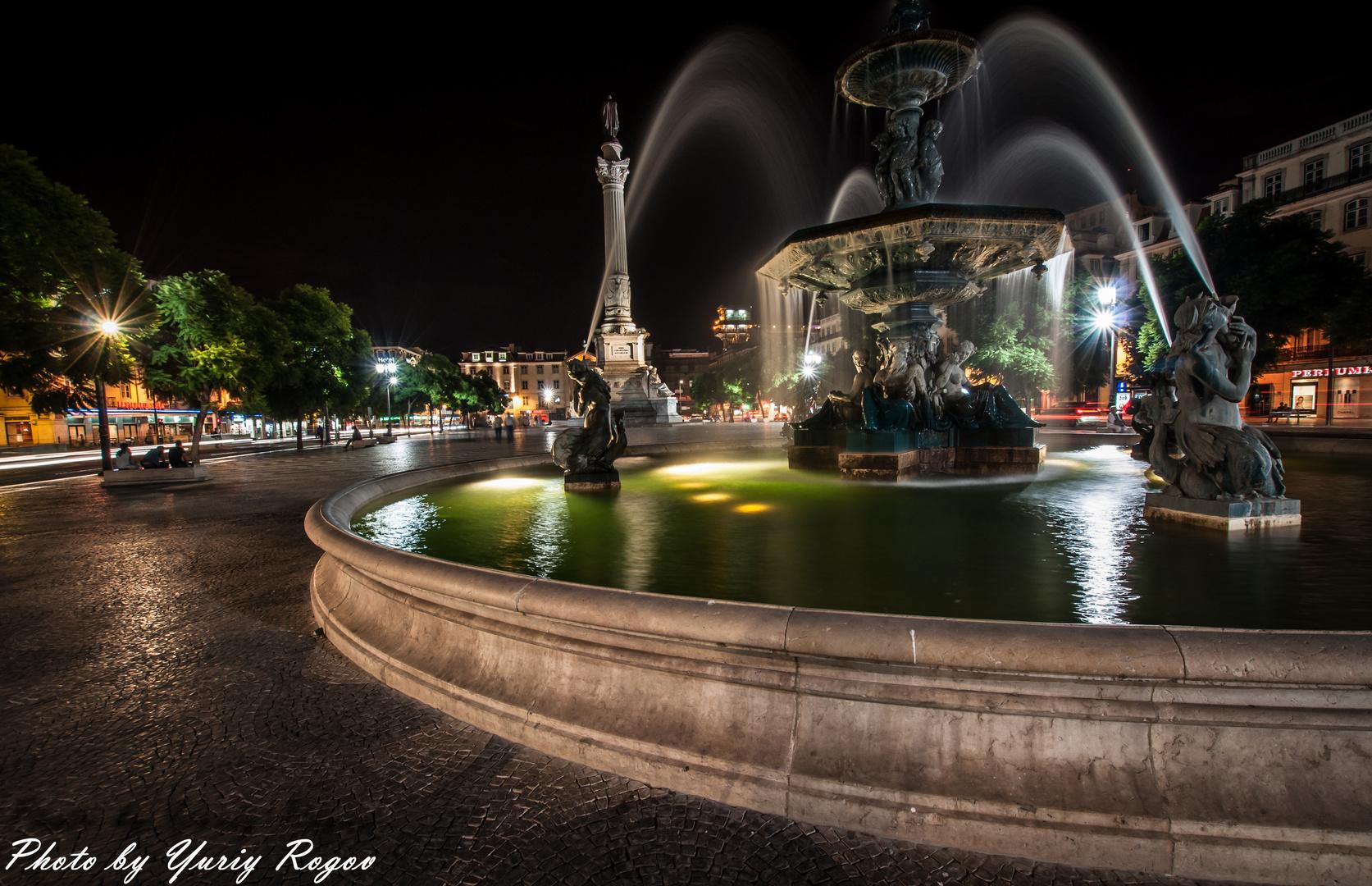 Rossio Square . Lisbon