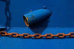 Rost an Blau