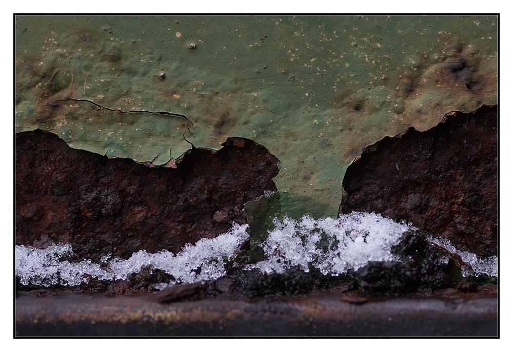 Rost, Farbe, Schnee