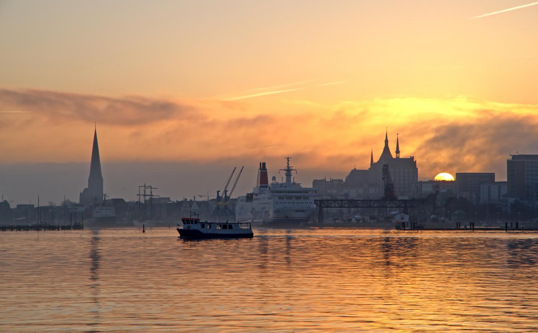 Rostock am frühem Morgen