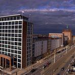 Rostock aus dem Radisson Blu Hotel aus.