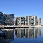 Rostock, Hafen City an der Warnow