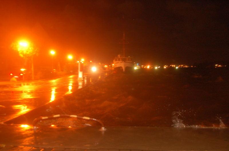 Rostock-Stadthafen bei Hochwasser am 01.11.2006