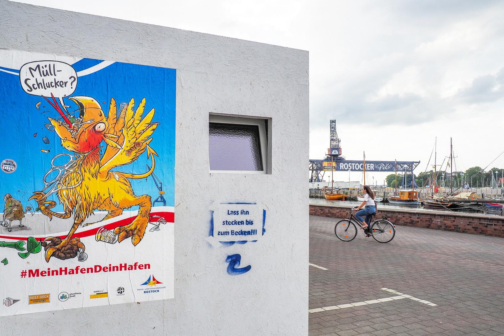 Rostocker Aktion #MeinHafenDeinHafen contra Saustall