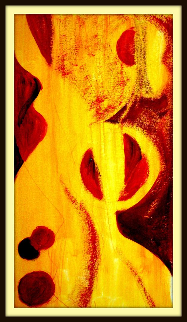 Rot Original Acryl auf Papier