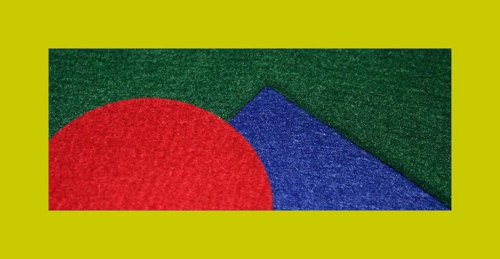 rotblaugrün und gelb