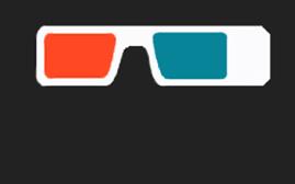 Rot/Cyan Brille