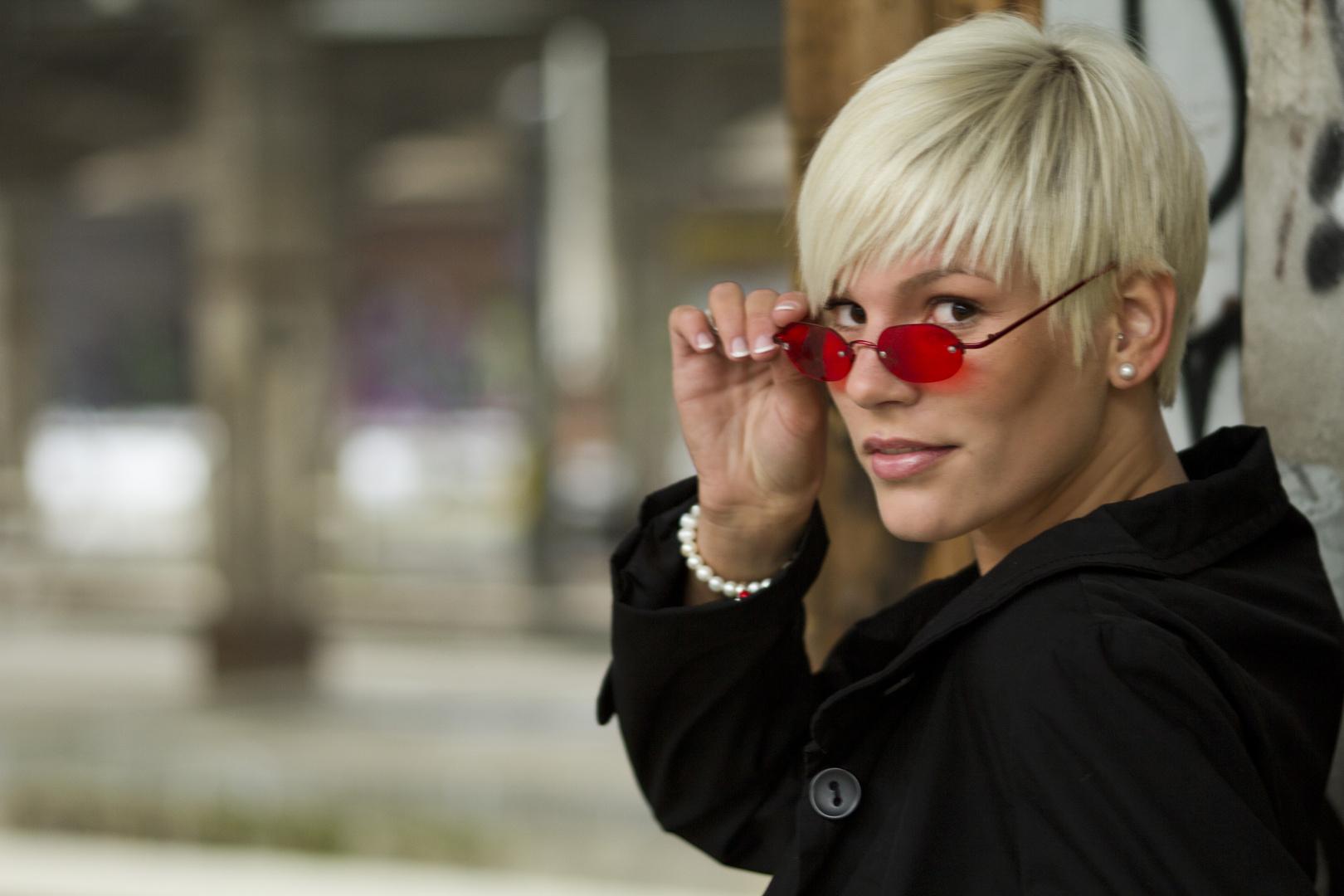 Rote Brille