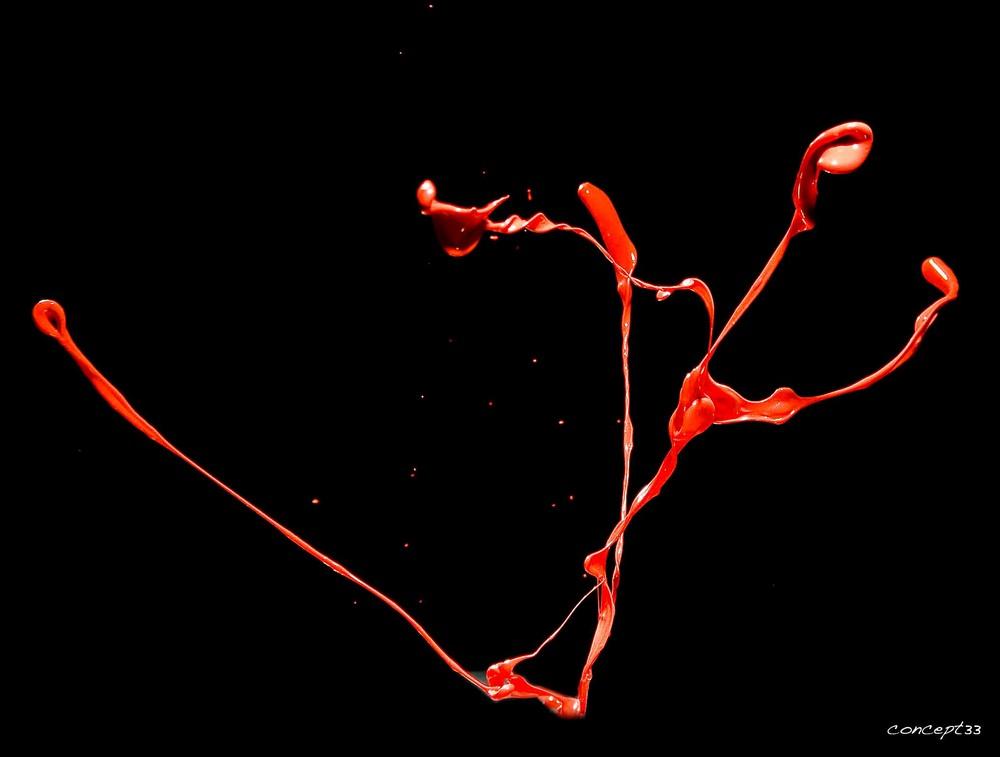 Rote Farbe Foto Bild Abstraktes Experimente Spezial Bilder Auf