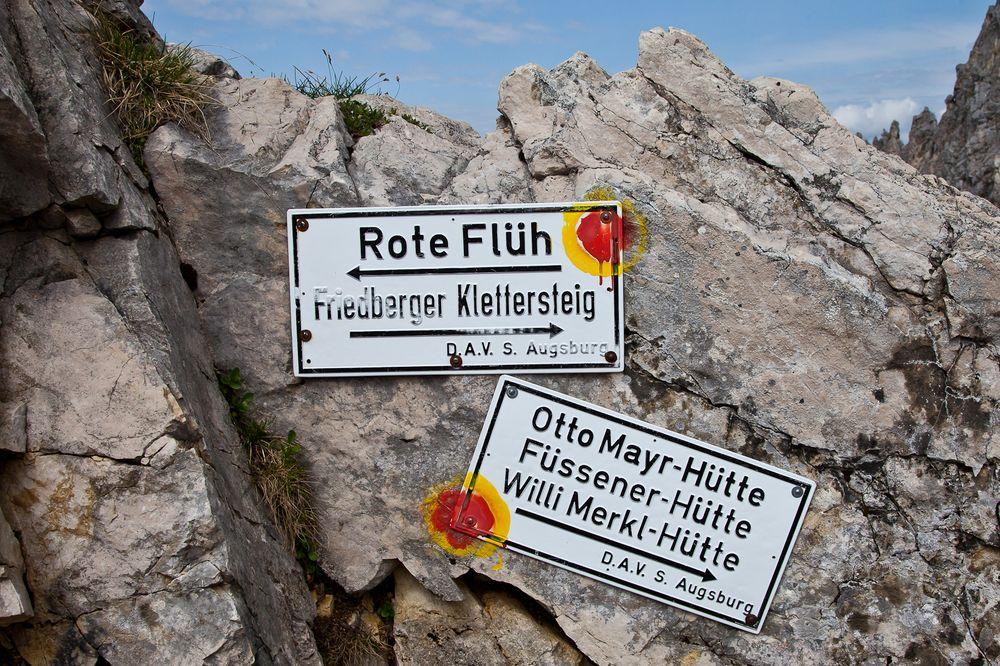 Rote Flüh und Friedberger Klettersteig