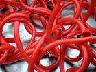 Rote Glasröhren