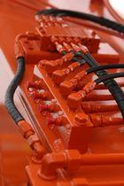 Rote Hydraulik