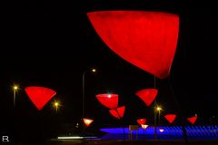 Rote Lampen