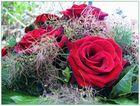 Rote Rosen zur Hochzeit meines Patenkindes