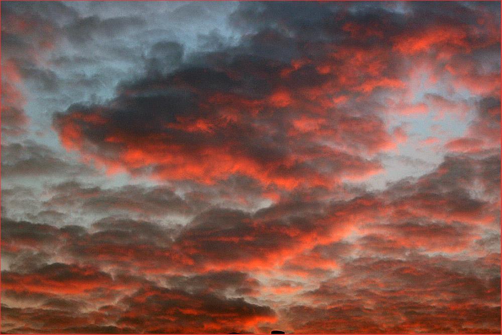 Rotes Licht Am Himmel