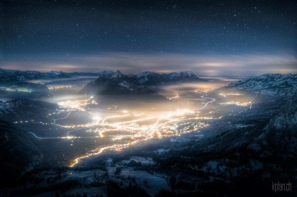 * Rotenfluh: Sicht auf Schwyz *
