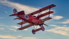 Roter Baron im Landeanflug