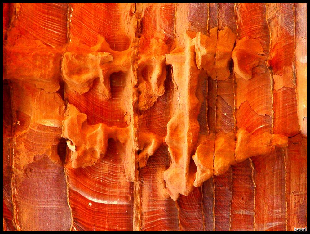 Roter Felsen in Petra, Jordanien