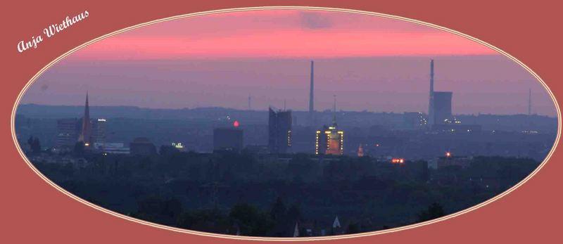Roter Himmer über Dortmund