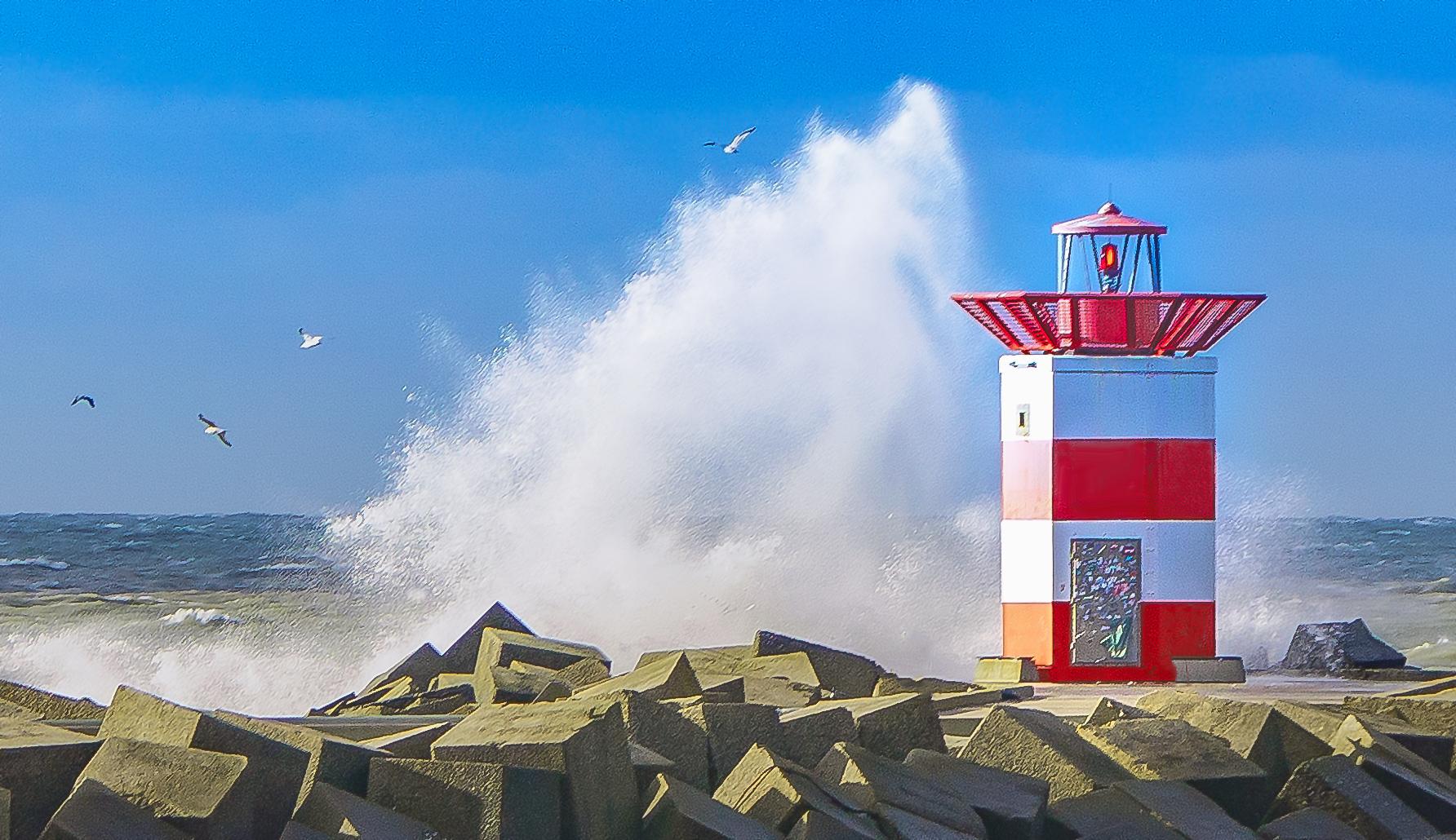 Roter Leuchtturm in Scheveningen