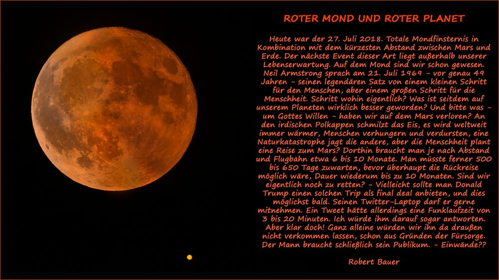 ROTER MOND UND ROTER PLANET
