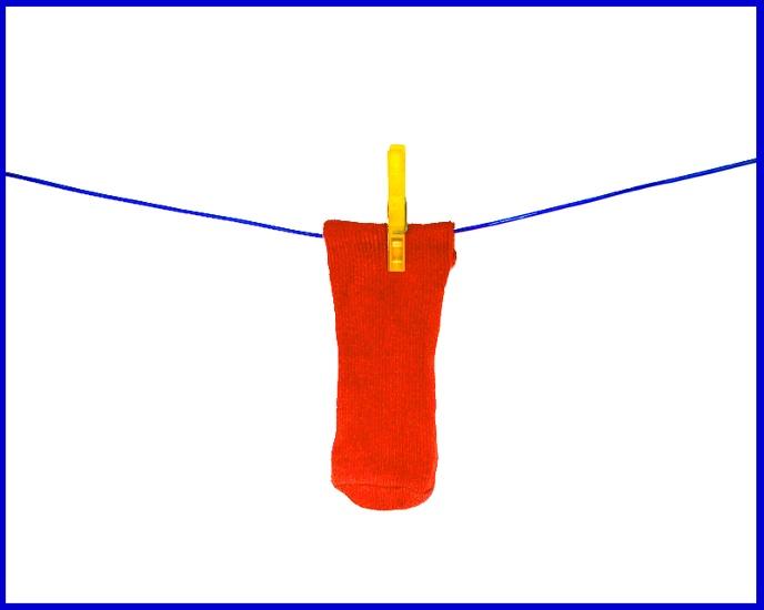 """""""roter Sock an blauer Leine"""""""