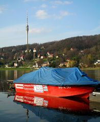 Rotes Boot