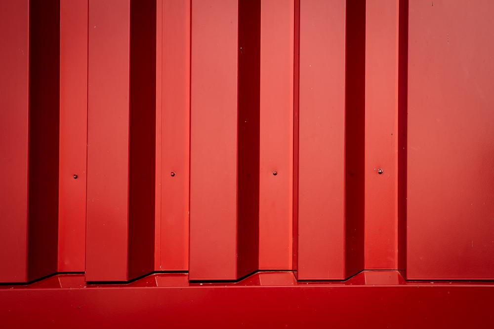 Rotes gerades Blech