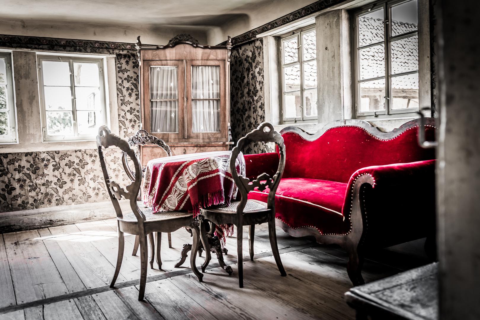 Rotes Sofa Foto Bild Architektur Ländliche Architektur Möbel