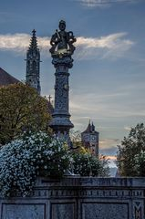 Rothenburg ob der Tauber - am Brunnen