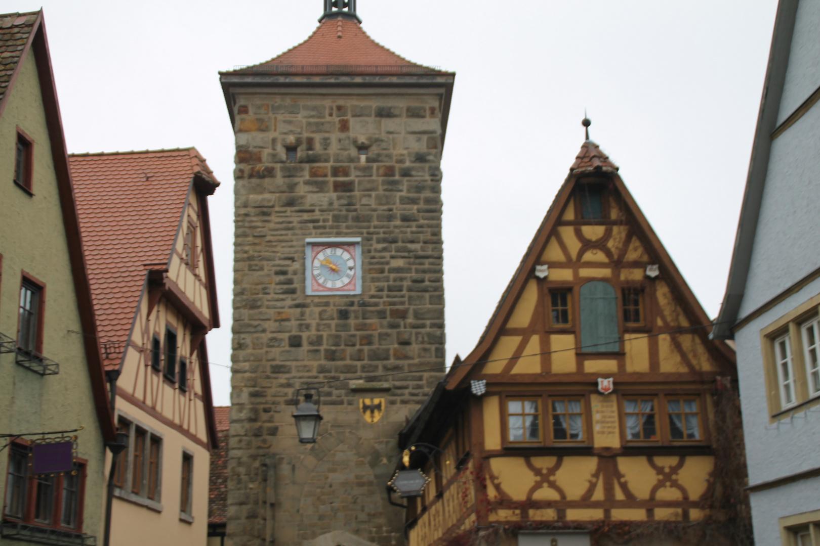 Rothenburg ob der Tauber, beim Plönlein