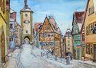 Rothenburg o.T.  im Schnee