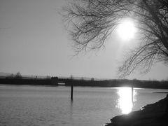 Rothsee stille in der Luft an einem Wintertag