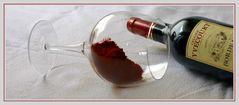 Rotwein, sehr trocken ;-)