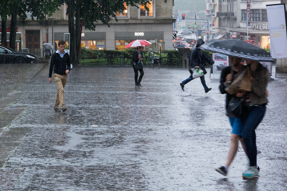 Rouen im Regen