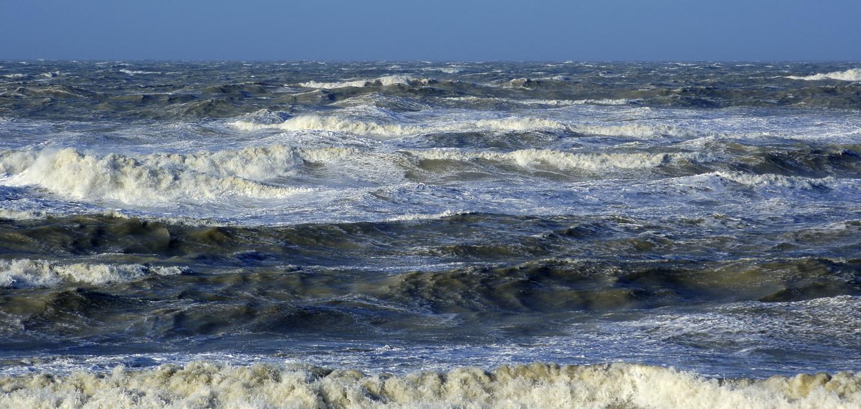 Rough Belgian coast